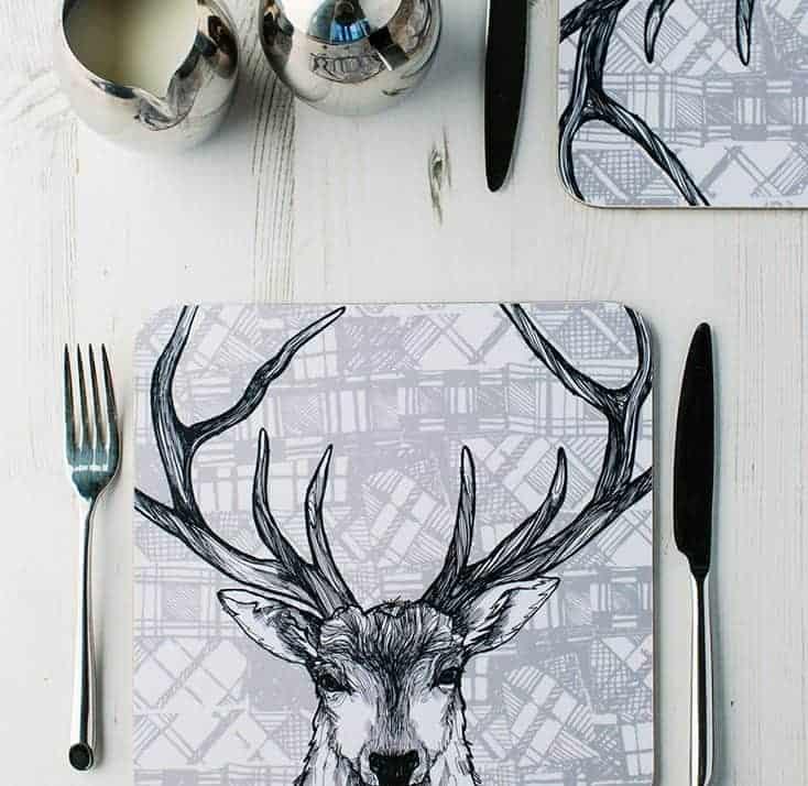 Tartan Animals table place setting