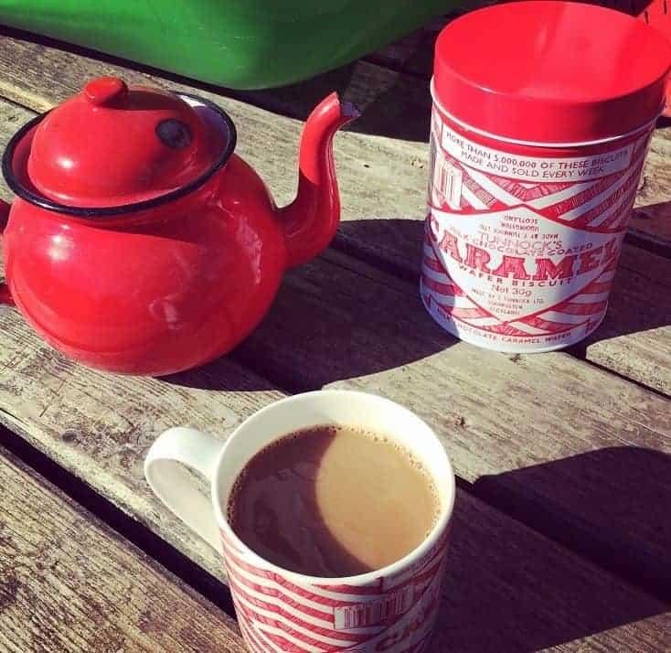 Tea and Coffee mugs and storage tins