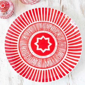 Biscuit Plate with Tunnock's Tea Cake Design