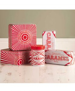 Storage Tins with Tunnock's Caramel Wafer and Tea Cake Illustrations by Gillian Kyle