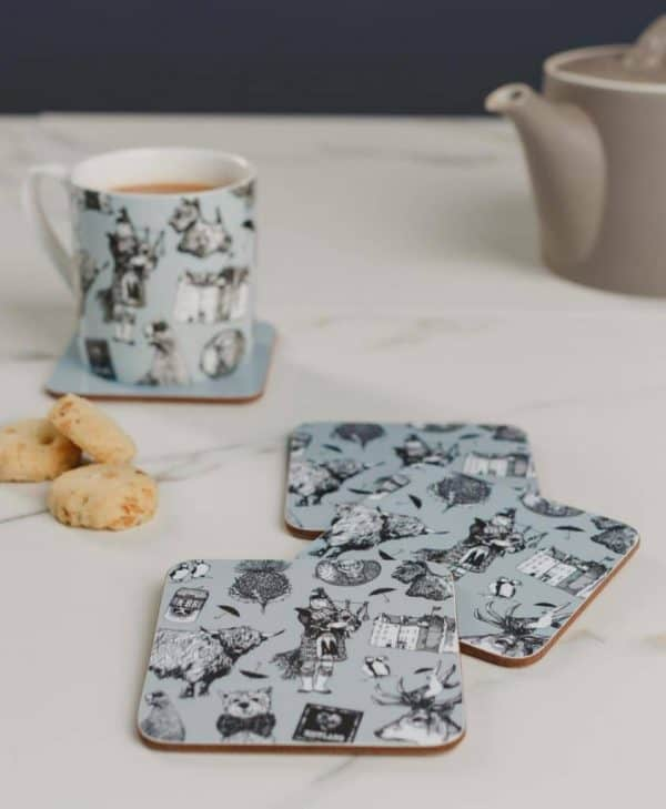 Drinks Coasters and Mugs with Love Scotland Design