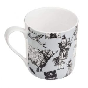 Love Scotland Fine Bone China Mug from Gillian Kyle