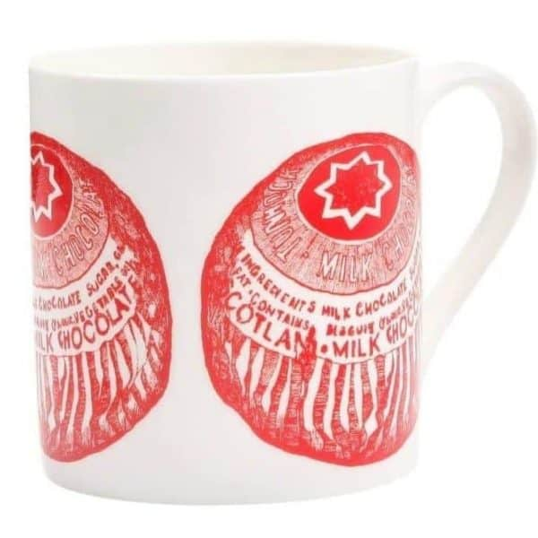 Coffee Mug with Tunnock's Tea Cake from Gillian Kyle