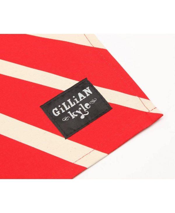 Gillian Kyle branding label on Tunnock's Teacake Tea Towel