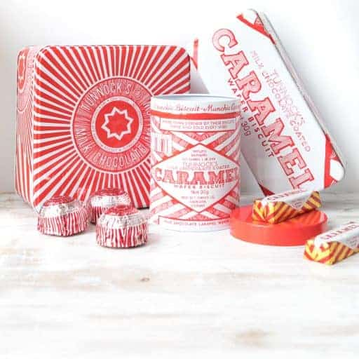 Tunnocks biscuit tins by Gillian Kyle