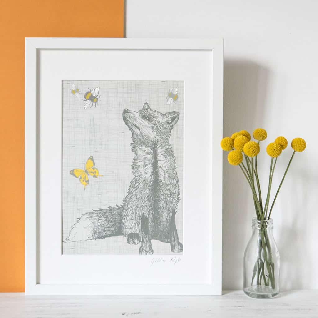 fox framed print by Gillian Kyle