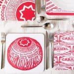 Gillian Kyle, Tunnock's Biscuits Caramel Wafer and Teacake Scottish placemats, set of 4, Tunnock's