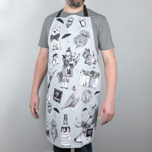 GillIan Kyle, Scottish Breakfast textiles, Scottish apron, love scotland print