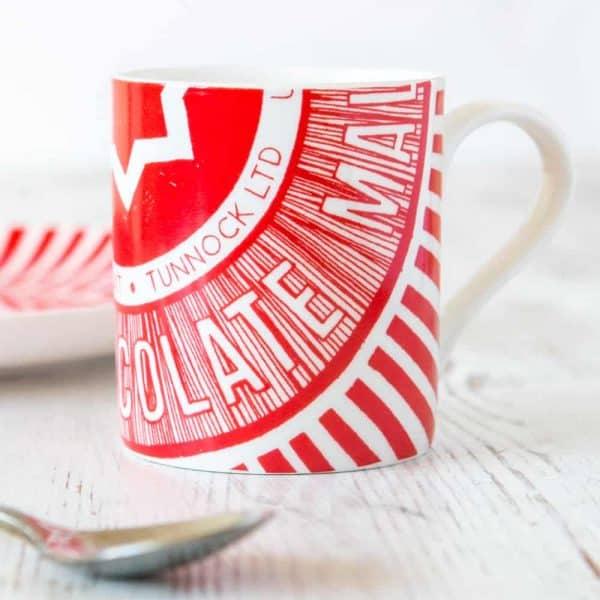 Tunnock's Tea Cake Wrapper Espresso Cup by Gillian Kyle