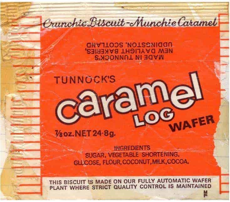 Tunnocks Caramel Log Retro Label