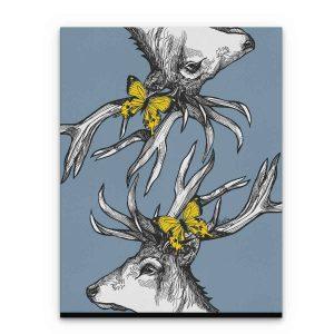 Gillian Kyle Scottish Art Canvas and Prints Gallery, Scottish Wildlife Art, Mr Stag Scottish Deer canvas prints