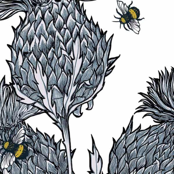 Silver Thistles Suitcases by Gillian Kyle