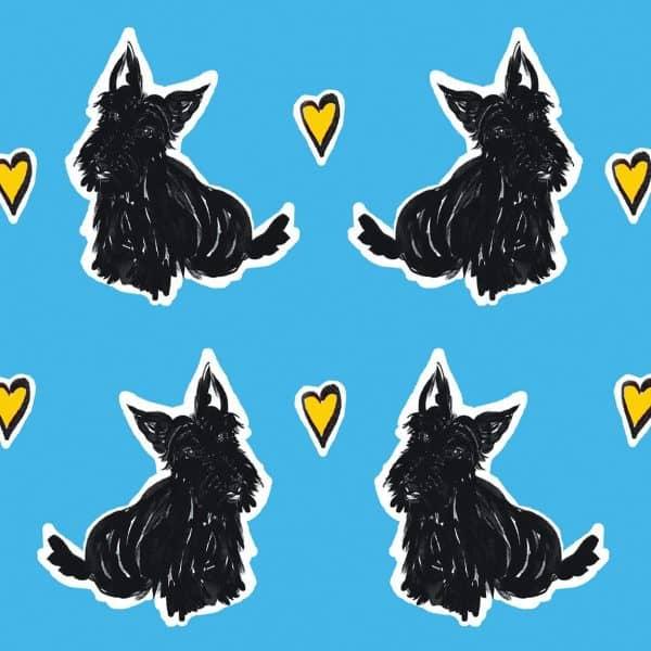 scottie love repeat pattern detail