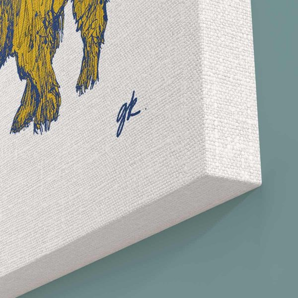gillian-kyle-scottish-art-prints-canvases-scottish-wildlife-bonnie-wee-coo-scottish-highland-cow-bee-canvas-print