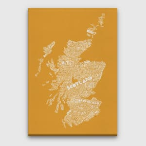 Mapped Out Scotland Map Canvas