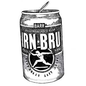 Irn Bru Can by Gillian Kyle - Unique Scottish Gifts