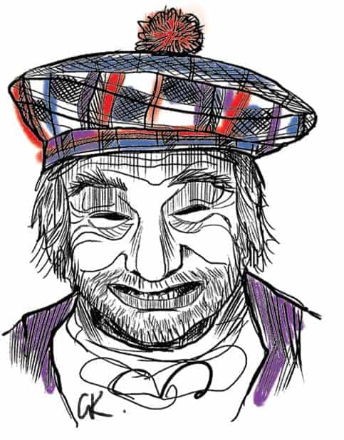 Illustration of Tam O Shanter by Robert Burns by gillian Kyle