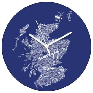 Mapped Out Scotland Map clock