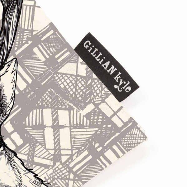 Tartan Stag tote bag by Gillian Kyle