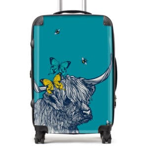 Highland cow suitcase by Gillian Kyle
