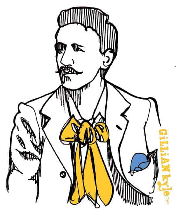 Charles Rennie Mackintosh illustration by Gillian Kyle