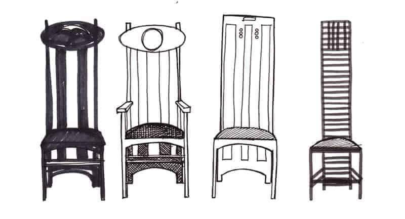 Charles Rennie Mackintosh chairs by Gillian Kyle