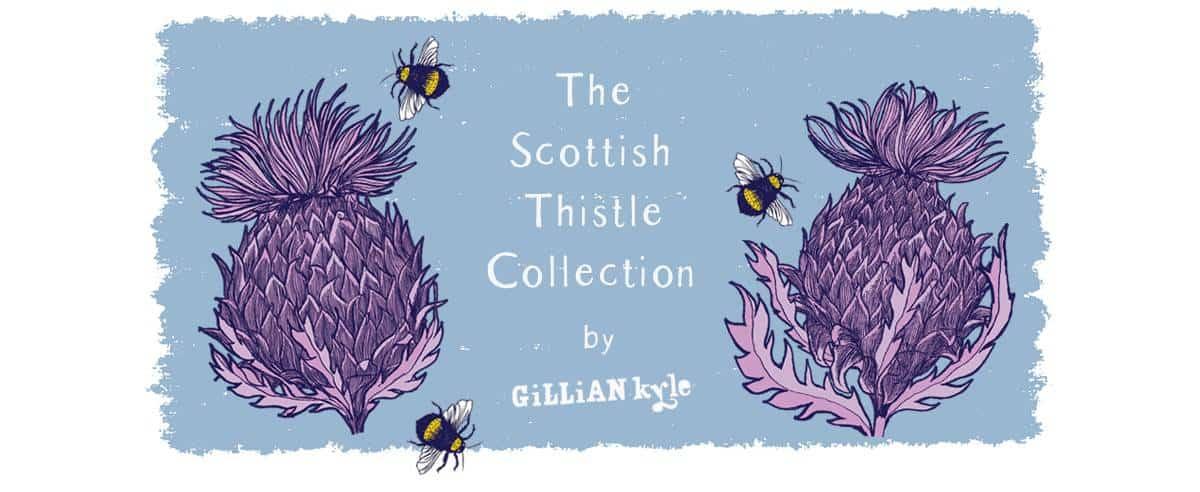 Contemporary Scottish thistle art