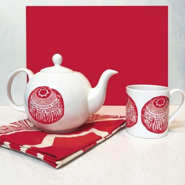 Tunnock's teacake teapot by Gillian Kyle