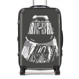 Irn-Bru suitcase in grey from Scottish artist Gillian Kyle