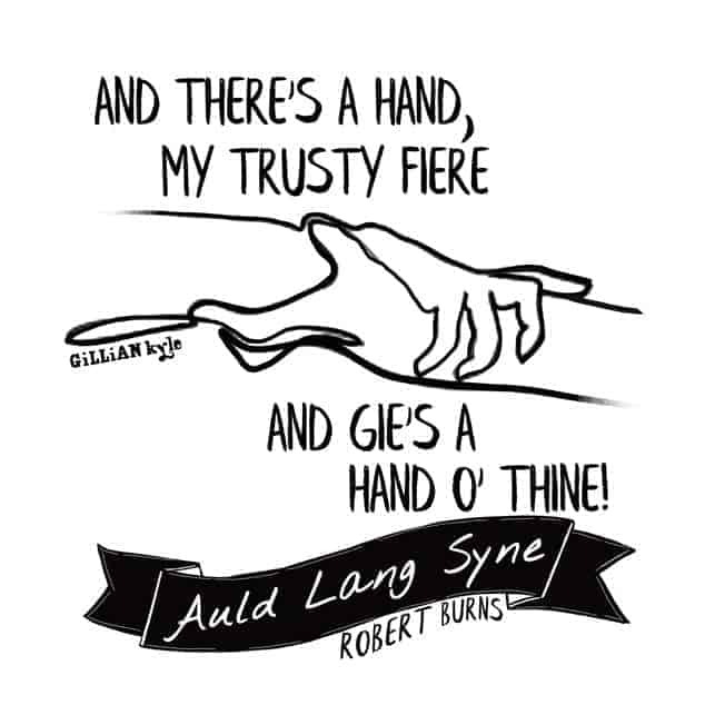 Auld Lang Syne illustration by Gillian Kyle