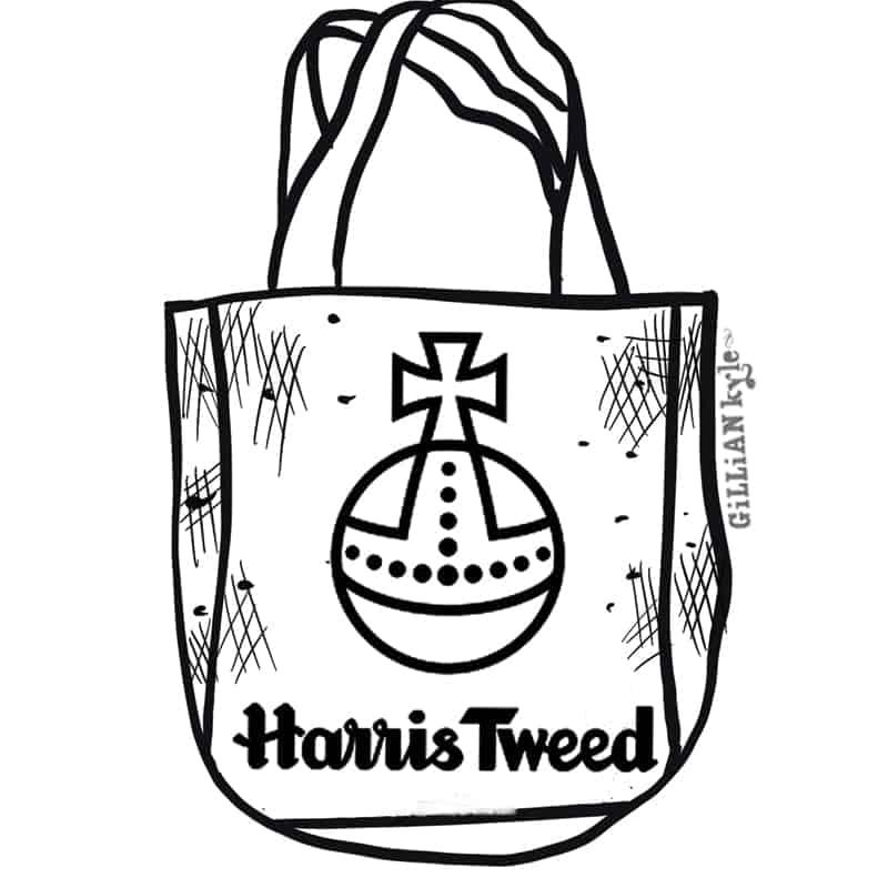 Harris Tweed illustration by Gillian Kyle