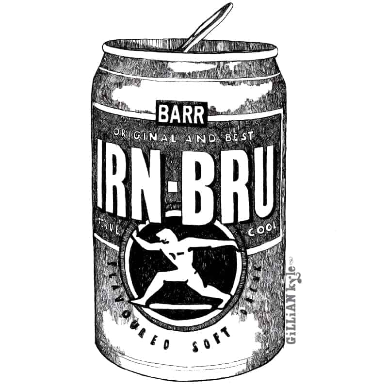 Irn Bru illustration by Gillian Kyle