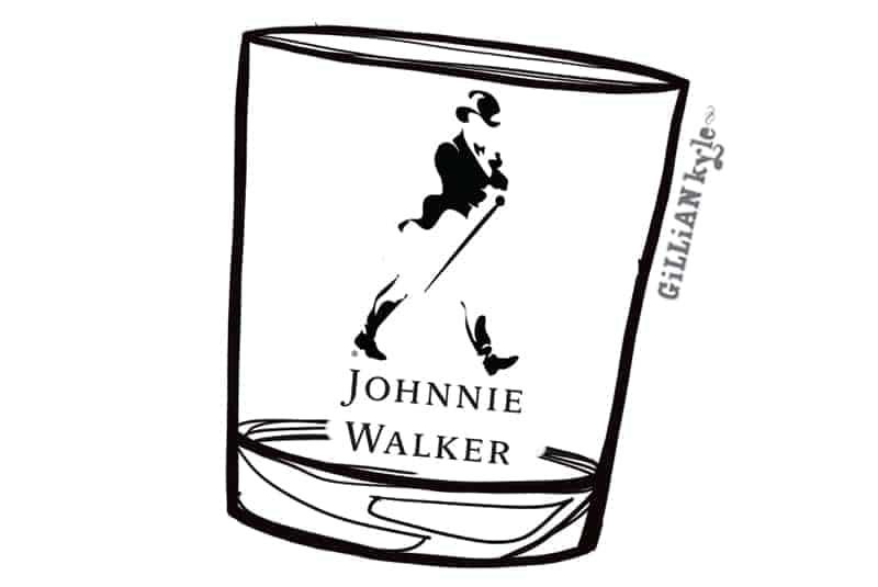 Johnnie Walker illustration by Gillian Kyle
