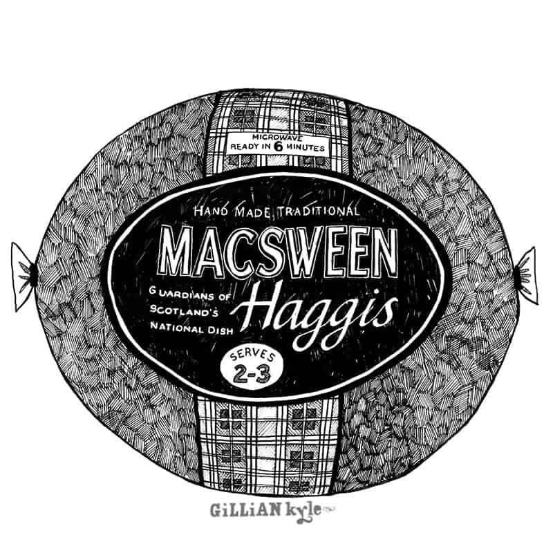 Macsween haggis illustration by Gillian Kyle