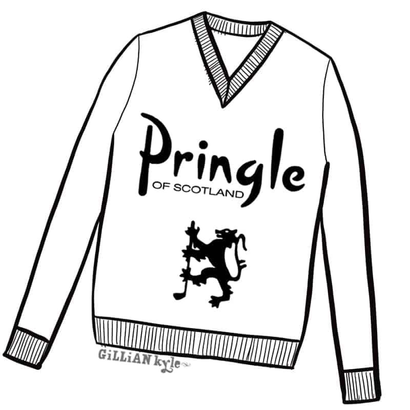 Pringle of Scotalnd illustration by Gillian Kyle
