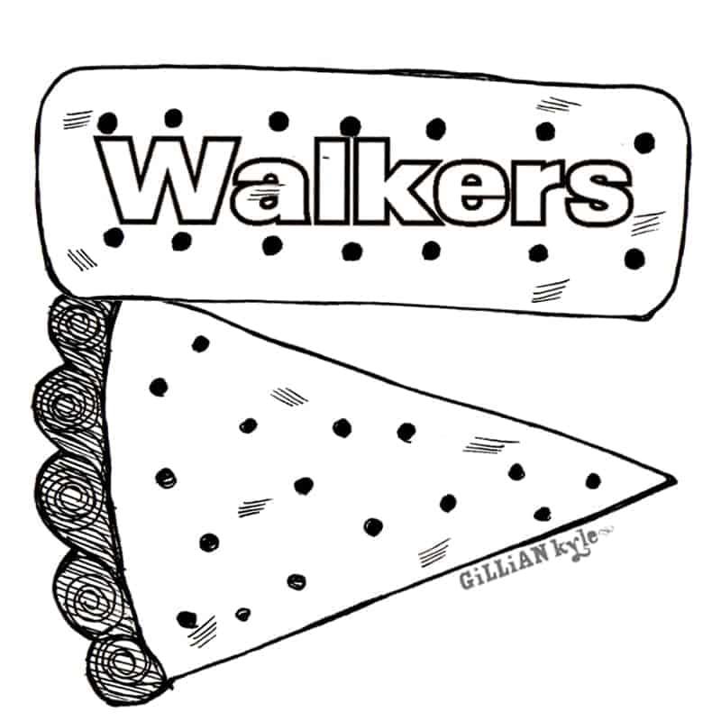 Walkers Shortbread illustration by Gillian Kyle