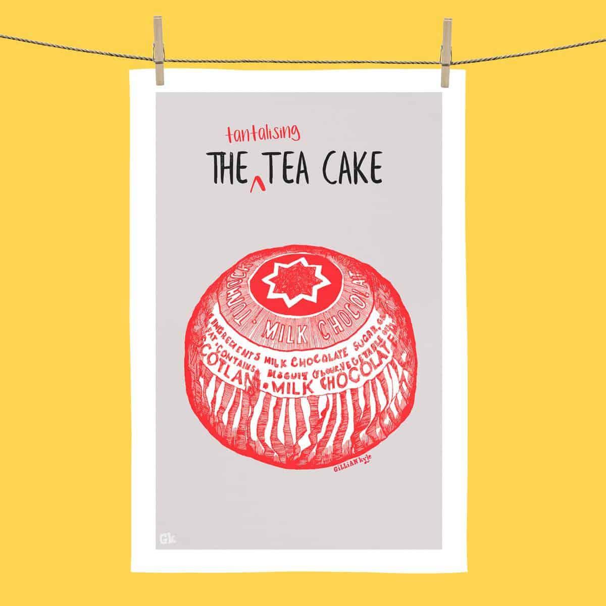 Tunnocks Tea Cake tea towel
