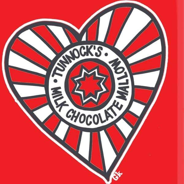 Tunnocks tea cake heart design by Gillian Kyle
