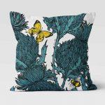 Jaggy Beasts Scottish Thistle Cushion by Scottish Artist Gillian Kyle