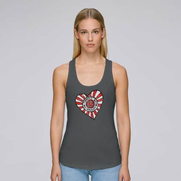 Ladies Tunnock's Heart Vest Top