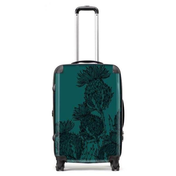 Scottish Thistle suitcase in emerald