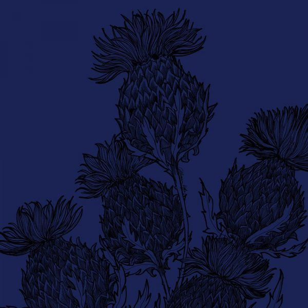 Black Thistle suitcase in midnight blue