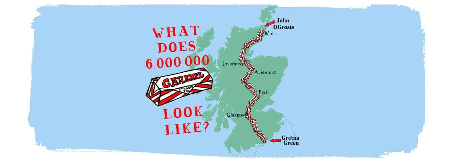 Tunnock's Caramel Wafer Map