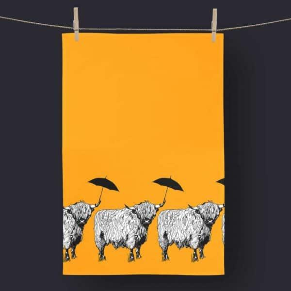 Dougal Highland Cow Tea Towel