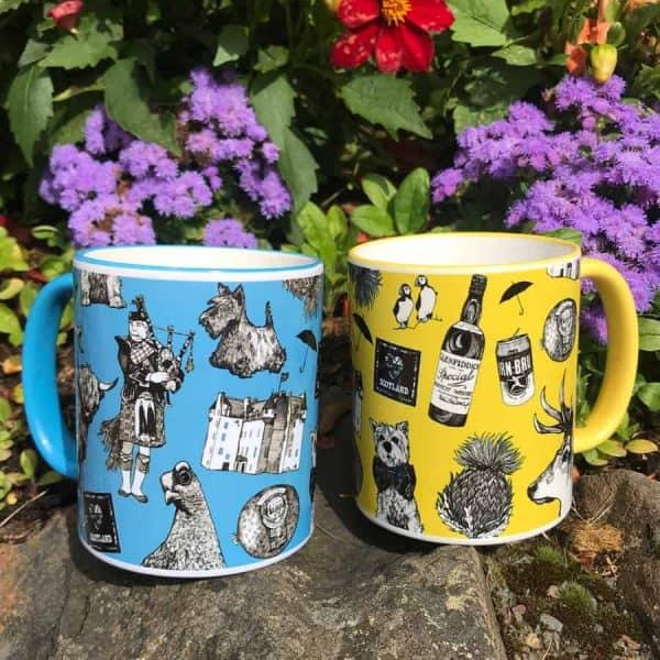 Love Scotland Scottish Icons Mugs