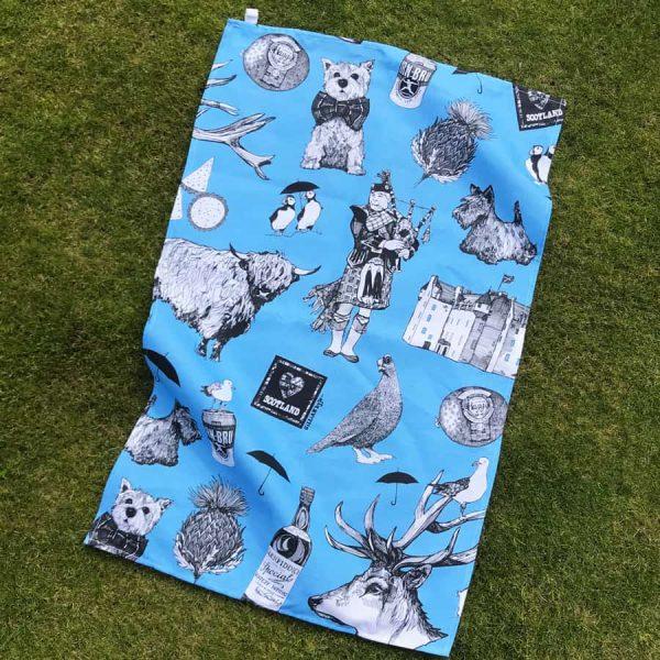Love Scotland Scottish Icons Tea Towel