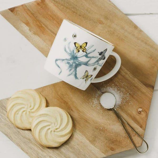 Stag Dainty Gold-Rim Mug