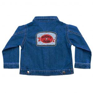 Mother's Pride baby denim jacket by Gillian Kyle
