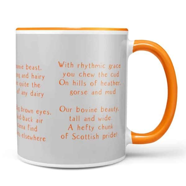 Ode to a highland cow chunky mug by Gillian Kyle