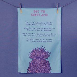 Ode to Scotland tea towel